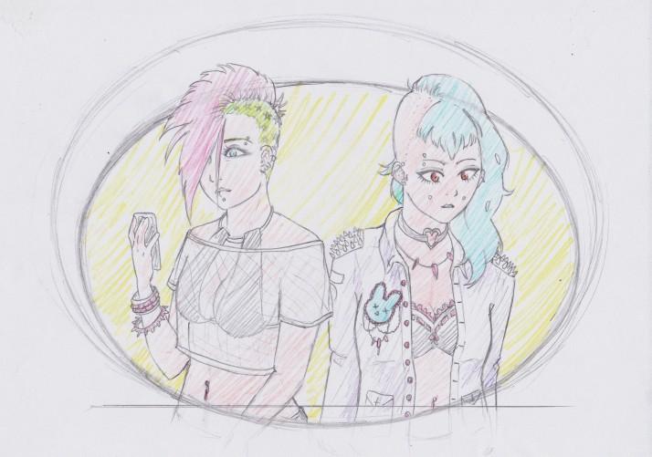 Punk Girls Entwicklungaprozess 03