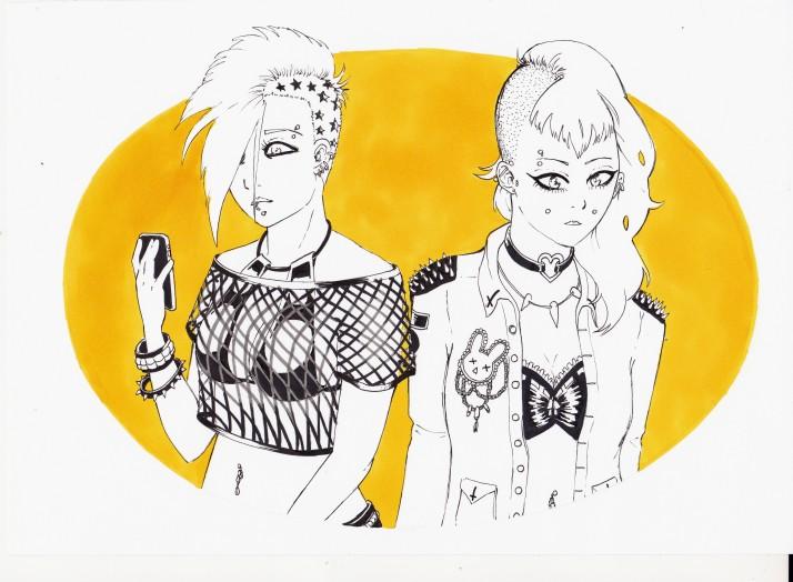 Punk Girls Entwicklungaprozess 05