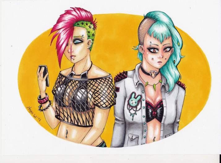 Punk Girls Entwicklungaprozess 08