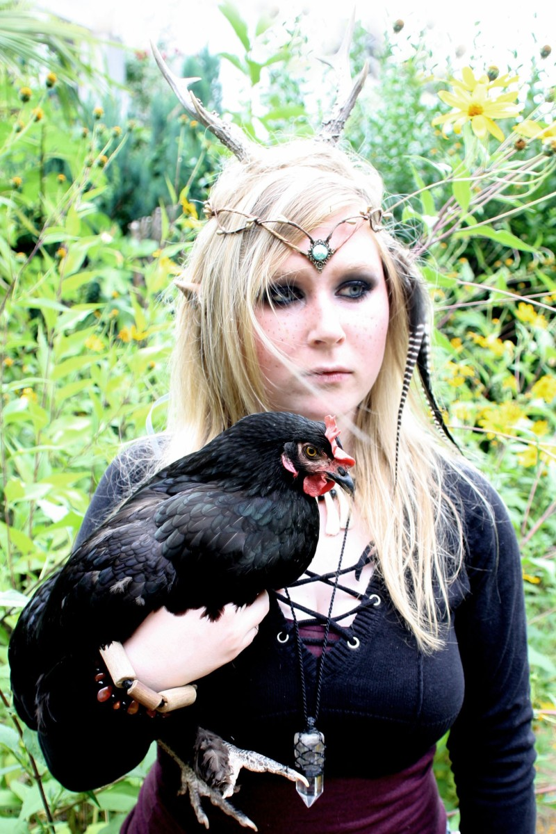 Elfenfotoshooting mit Hühnern