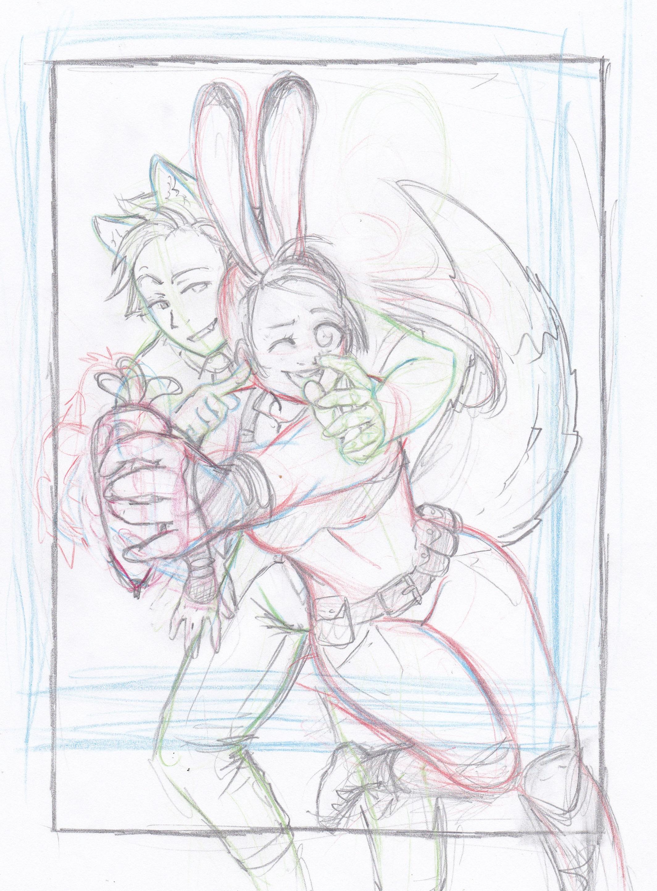 Judy und Nick - Entwicklungsprozess 01