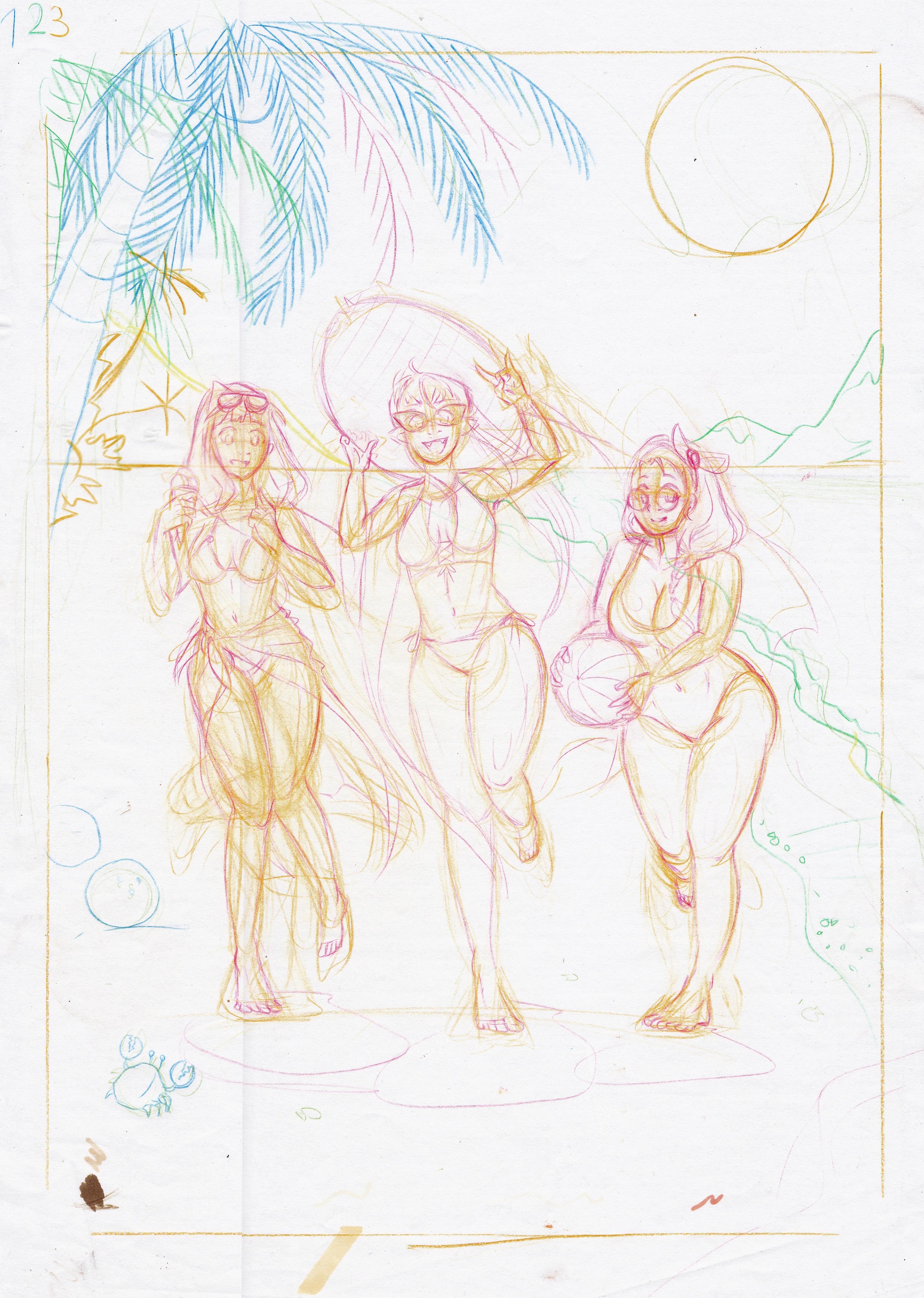 Strandtag Skizze