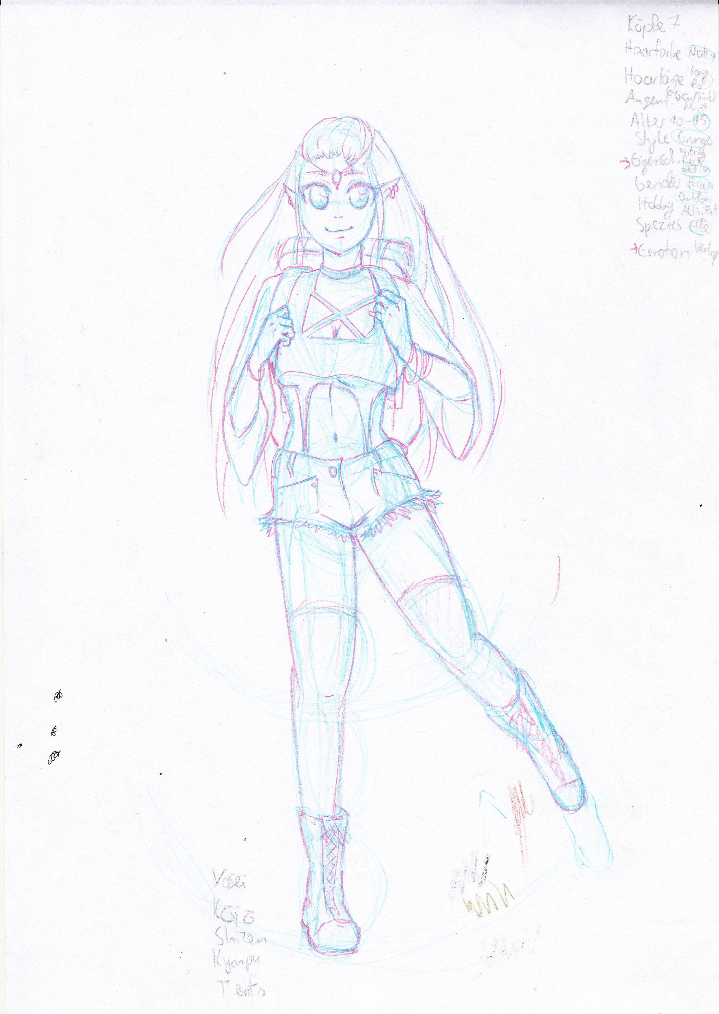 Makoto Charactersheet Skizze