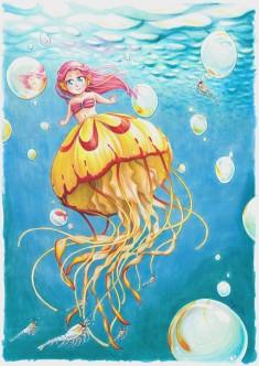 tiny jellyfish meraid dancing with krill - Maya Wendler - Listenes 2020