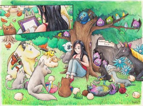 Inga unter Baum